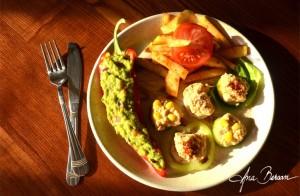 cartofi prajiti cu guacamole
